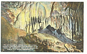 Crystal Cave Virginsville PA  Postcard p9380 (Image1)