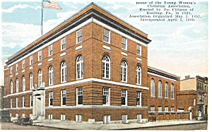 Reading, Pa, YWCA Building Postcard (Image1)