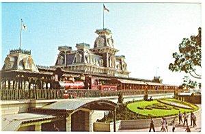 Walt Disney World Steam Railroad Postcard (Image1)