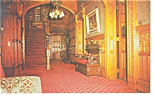 Jim Thorpe Pa Asa Packer Mansion Hallway Postcard P9462