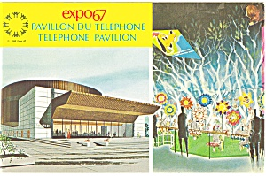 Expo 67 Telephone Pavilion Montreal Canada Postcard p9465 (Image1)