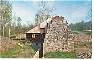 Hopewell Village PA Furnace and Water Wheel Postcard p9474 (Image1)