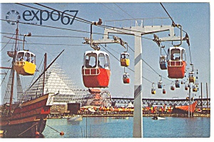 Sky Ride on La Ronde Expo 67 Postcard p9485 (Image1)