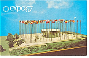 Pavilion of the UN, Expo 67 Postcard (Image1)