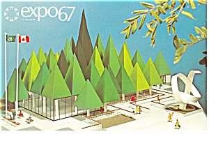 Canadian Pulp And Paper Pavilion Expo 67 Postcard P9498
