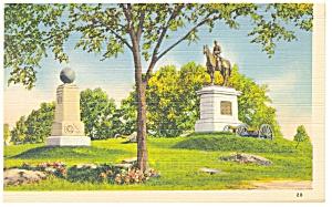 Gettysburg PA General Slocum Monument Postcard p9516 (Image1)