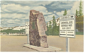 Berthoud Pass CO on US 40 Postcard p9533 (Image1)