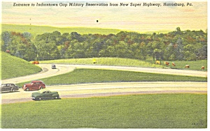 Indiantown Gap,PA Entrance Military Reservation Pcard (Image1)