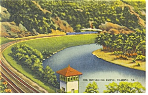 Horseshoe Curve Reading, PA Postcard p9538 (Image1)
