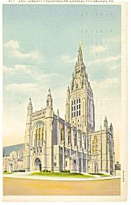 Presbyterian Church  Pittsburgh  PA Postcard p9548 (Image1)
