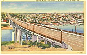 Seattle WA George Washington Bridge Postcard p9582 (Image1)