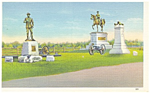 Gettysburg PA Hall s Maine Battery  Postcard p9592 (Image1)