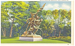 Gettysburg PA North Carolina Memorial Postcard p9628 (Image1)