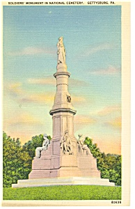 Gettysburg PA The National Monument Postcard p9630 (Image1)