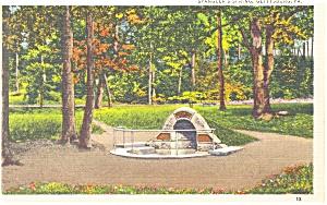 Gettysburg,PA, Spangler's Spring Postcard (Image1)