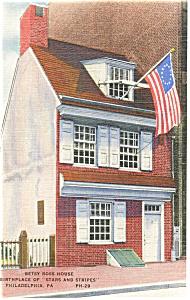 Philadelphia PA Betsy Ross House Postcard p9643 (Image1)