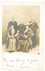 Photo Of Three Men,two Women Atlantic City Mailing Card