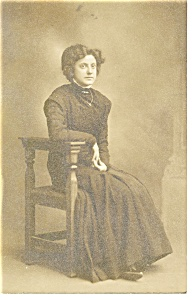 Photo Of Young Lady Seated Postcard