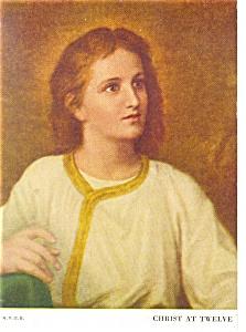 Christ at Twelve by Heinrich Hofmann Postcard p9685 (Image1)