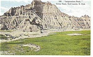 Inspiration Peak Bad Lands  SD Postcard p9691 (Image1)