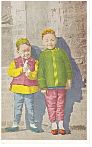 Chinese Children Postcard 1926