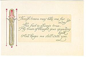 Love Poem Hallmark Repro Postcard (Image1)