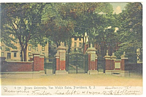 Providence,RI,Gate, Brown University Postcard 1905 (Image1)