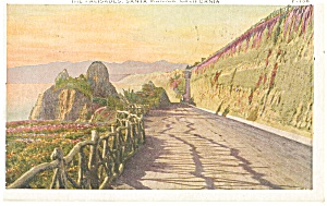 The Palisades, Santa Monica, CA Postcard 1931 (Image1)