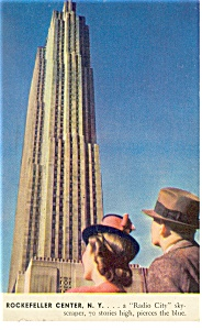 New York NY Rockefeller Center Macy Postcard p9781 1940 (Image1)