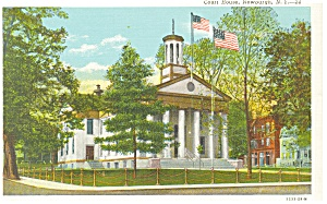 Newburgh,NY, Court House Postcard ca 1940 (Image1)