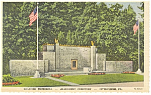 Pittsburgh PA Allegheny Cemetery Postcard p9806 (Image1)