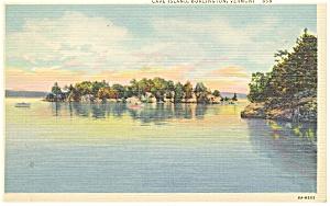 Burlington, VT, Cave Island, Postcard 1947 (Image1)