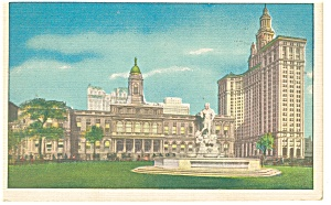 New York City NY City Hall and Municipal Building Postcard p9827 (Image1)