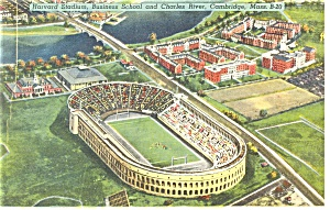 Cambridge MA Harvard Stadium Postcard p9828 (Image1)