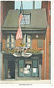 Philadelphia PA Betsy Ross House Postcard p9846 1932 (Image1)