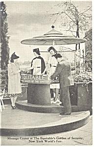 New York World s Fair Equitable Life Postcard p9850 1939 (Image1)