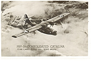 PBY-5 Consolidated Catalina Flying Boat Postcard ca 1943 p9855 (Image1)