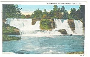 Delaware Water Gap, PA, Resica Falls Postcard 1931 (Image1)