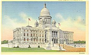 Providence RI State Capitol  Postcard p9890 1943 (Image1)