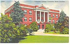 Columbia, SC Columbia College Postcard 1943 (Image1)