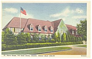 Chester IL St Ann s Home  Postcard p9903 1956 (Image1)