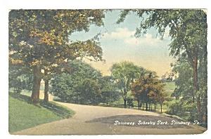 Pittsburgh PA Schenley Park Driveway Postcard p9929 1911 (Image1)