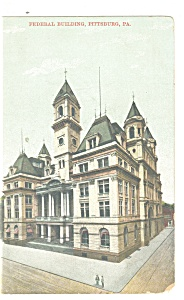 Pittsburgh PA Federal Building Postcard p9930 (Image1)