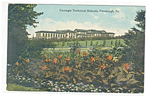 Pittsburgh PA Carnegie Technical Schools Postcard p9931 (Image1)