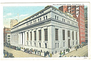 Pittsburgh,PA Mellon National Bank Postcard 1934 (Image1)