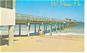 Dania FL Fishing Pier Postcard p9979 (Image1)