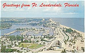Ft Lauderdale FL Along A1A Postcard p9980 1963 (Image1)