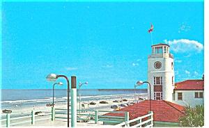 Jacksonville Beach FL Beach and Ocean Postcard p9984 (Image1)