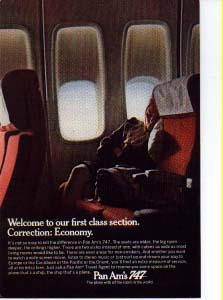 Pan Am Economy Section Ad
