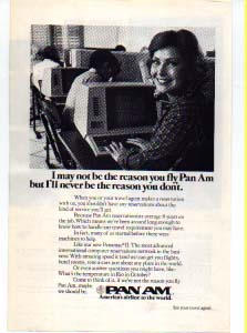 Pan Am Reservationist Ad